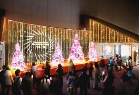 マカロングローブツリーの光のステージ~新宿ミロード モザイクステージ~