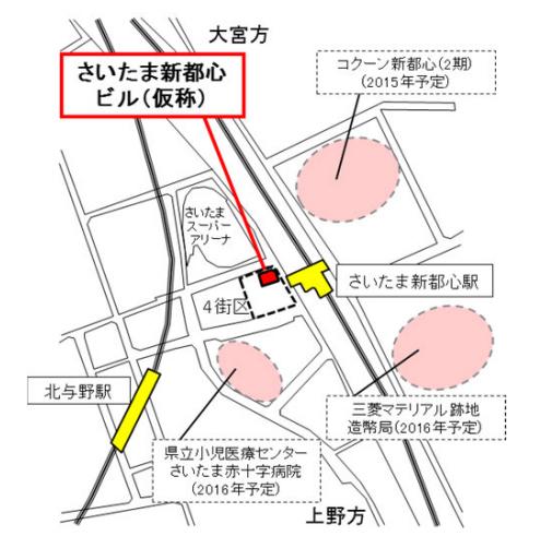 さいたま新都心 地図(予定)