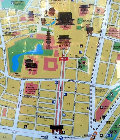 浅草寺地図