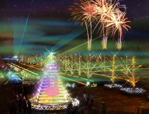 「ウインター ビスタ イルミネーション2014」 ※写真の花火は打ち上げ当日イメージ