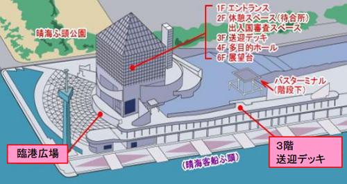 晴海客船ターミナル3階送迎デッキ