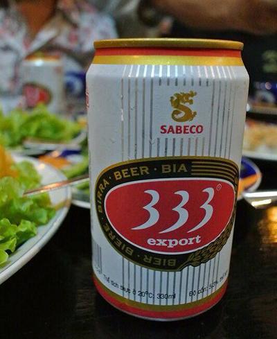 ベトナムビール「333(バーバーバー)」