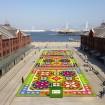 約47,500株の花々のじゅうたん!横浜赤レンガ倉庫で「FLOWER GARDEN 2015」が3月28日(土)から