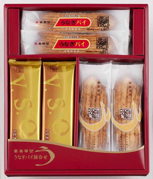 東京初登場「うなぎパイ詰合せ」 「15本入り・24本入り」には、うなぎパイのスタンダード、ナッツ入り、V.S.O.P.の3種を「50本入り」には、さらにミニパイを詰合せ