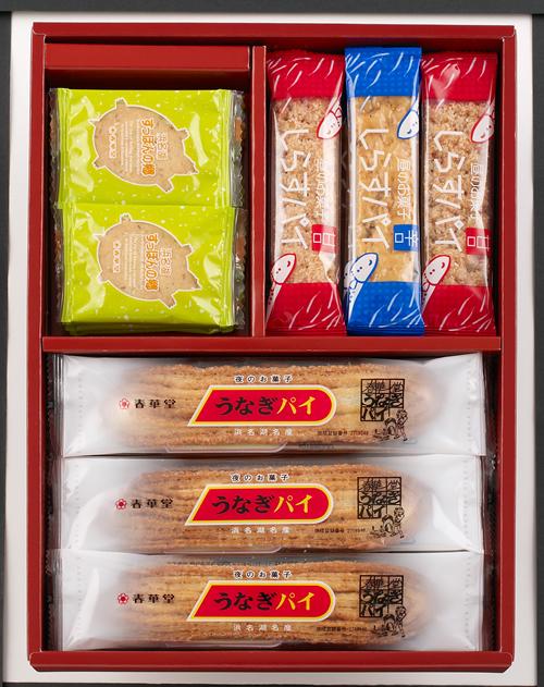 東京初登場「お菓子のフルタイム」 「朝のお菓子すっぽんの郷」「昼のお菓しらすパイ」「夜のお菓子うなぎパイ」の4つの味が楽しめる詰合せセット