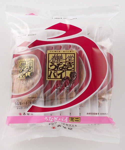 「うなぎパイミニ」 ナッツと蜂蜜の入った、かわいらしいミニサイズのうなぎパイ 10本入660円