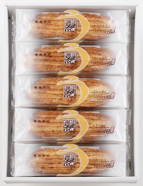 静岡・愛知限定「うなぎパイナッツ入り」<br />アーモンドをふんだんに使った、ひと味違ううなぎパイ<br />8本入909円、12本入1,364円、18本入2,046円