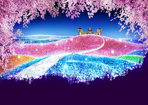 500万球イルミと2,000本の桜!「さがみ湖イルミリオン-夜桜イルミネーション」が3/20からスタート
