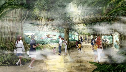 世界のジャングルシーンを凝縮した「アクアジャングル」