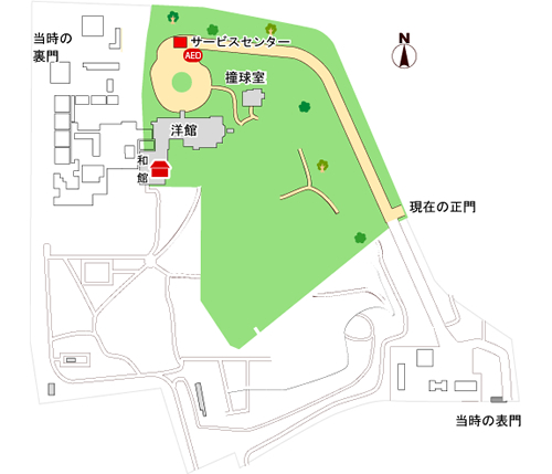 旧岩崎邸庭園マップ
