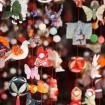 京王百草園でかわいい「つるし雛まつり」 3月8日(日)まで庭園に展示