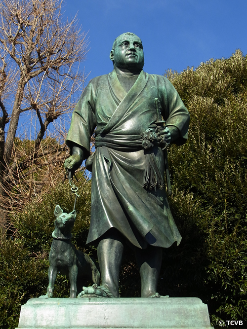 上野公園のシンボル「西郷隆盛銅像」 彫刻家高村光雲の手によって1898年に建てられた