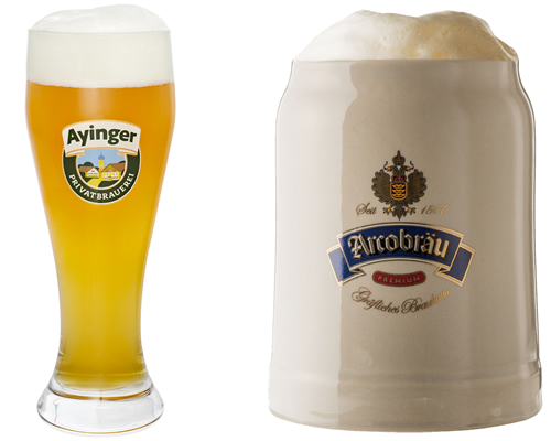 左「アインガーブラウヴァイセ」、右「アルコブロイ シュロスヘル」