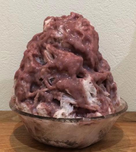 「クリームあずき」あずきを牛乳と生クリームで混ぜて作った自信作 価格650円
