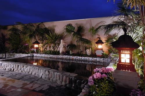 夜の「露天風呂」ライトアップ