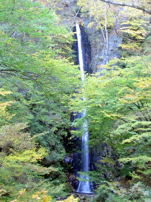 36mの高さから落下する「白糸の滝」 繊細な糸のような美しさから名付けられたと言われる