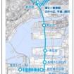 2019 年度(開業当初)~選手村再開発までのルート・輸送力(案) 画像は「幹線ルート」案 画像:東京都報道資料より