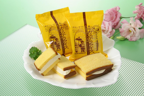 長崎・ニューヨーク堂の一番人気アイス「長崎カステラアイス」