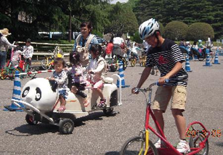 おもしろい自転車がいっぱいの「おもしろ自転車コーナー」