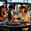 河沿いに建つ第一ホテル東京シーフォートのグランカフェ「ビアガーデン2015」が6/22オープン