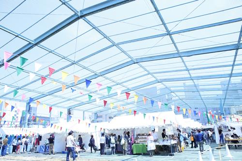 会場の「3331 Arts Chiyoda」は旧練成中学校を利用して誕生したアートセンター