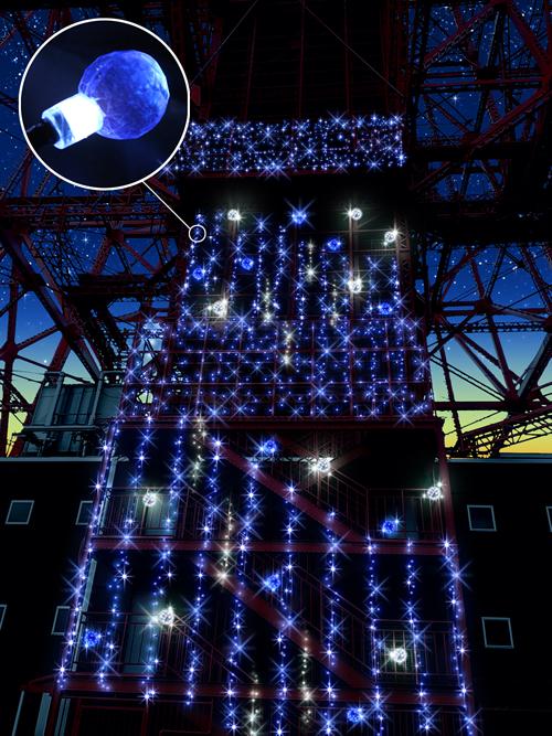 LED総数130,000個の光ファンタジー