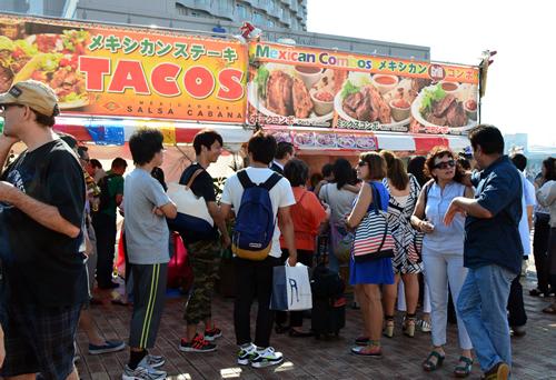 タコスやトルティーヤなどメキシコ料理ブース