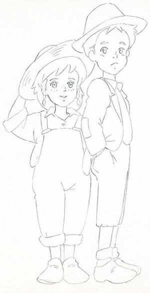 「愛少女ポリアンナ物語」 設定画 佐藤好春
