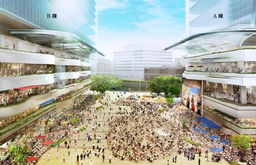 東京駅前の新たな顔となる約7,000㎡の「地上大規模大広場」のイメージ