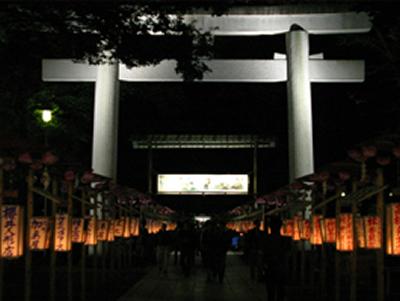 府中市文化団体連絡協議会が描いた約260本の行灯