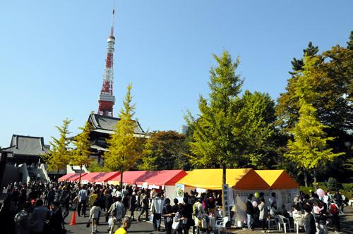 会場は東京タワーのすぐ近く イベントの帰りにぜひどうぞ