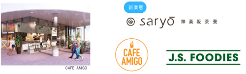 施設各所にはバラエティ豊かなカフェを配置