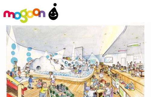 楽しく遊べるキッズプレイグラウンドと子どもを見守りながら食事ができるカフェレストラン一体型のファミリー施設「モグーン」