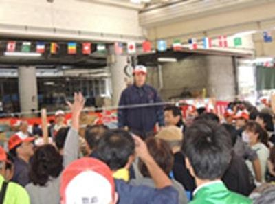 主に豊島、北、板橋、文京区など城北地区の八百屋に野菜・果物を供給する豊島市場
