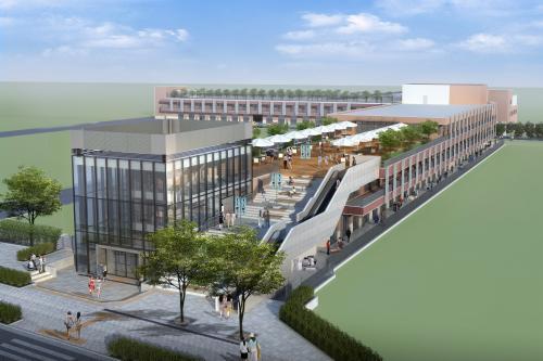 中央区が発表した「築地魚河岸」 イメージパース