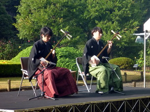 津軽三味線の演奏(昨年の様子)